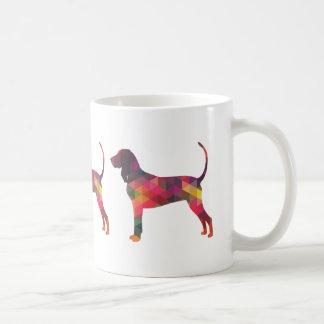 Black and Tan Coonhound Colorful Silhouette Coffee Mug