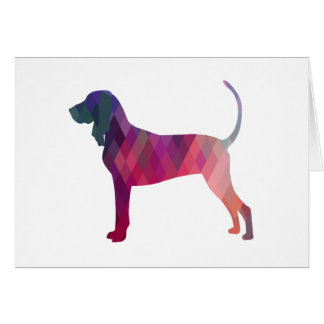 Black and Tan Coonhound Colorful Silhouette Greeting Card