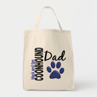 Black And Tan Coonhound Dad 2 Tote Bags
