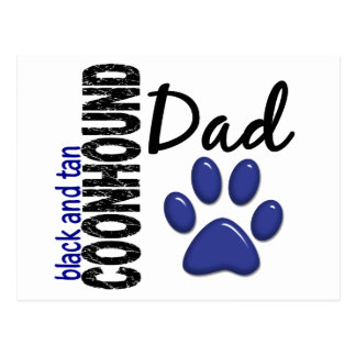 Black And Tan Coonhound Dad 2 Postcard