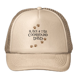 Black and Tan Coonhound Dad Hats