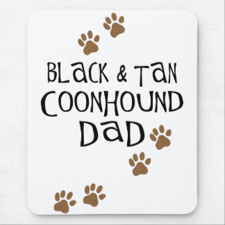 Black and Tan Coonhound Dad Mouse Pad