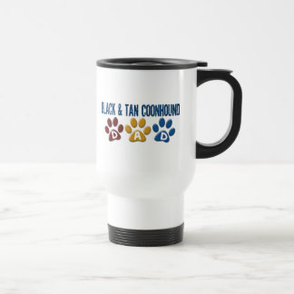 BLACK AND TAN COONHOUND DAD Paw Print Coffee Mug