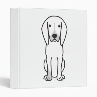 Black and Tan Coonhound Dog Cartoon 3 Ring Binders