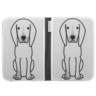 Black and Tan Coonhound Dog Cartoon Kindle Cover