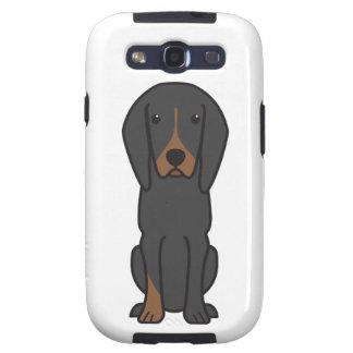 Black and Tan Coonhound Dog Cartoon Galaxy SIII Cover