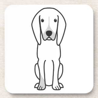Black and Tan Coonhound Dog Cartoon Coasters