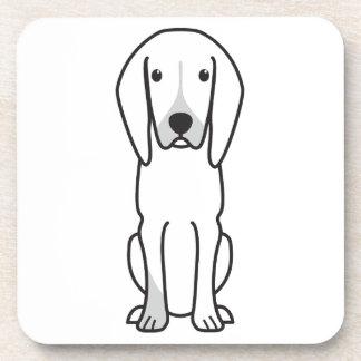 Black and Tan Coonhound Dog Cartoon Coasters