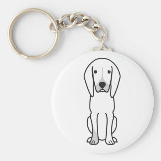 Black and Tan Coonhound Dog Cartoon Keychains