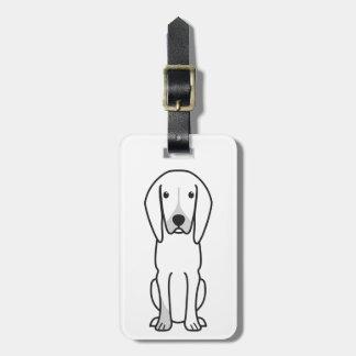 Black and Tan Coonhound Dog Cartoon Bag Tag