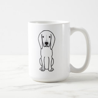 Black and Tan Coonhound Dog Cartoon Mug