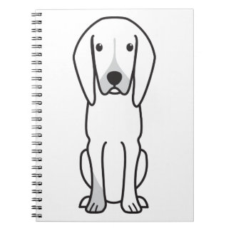 Black and Tan Coonhound Dog Cartoon Spiral Notebooks