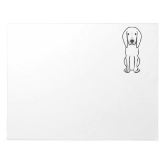 Black and Tan Coonhound Dog Cartoon Memo Notepad