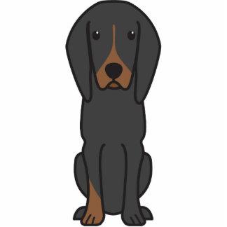 Black and Tan Coonhound Dog Cartoon Photo Sculptures