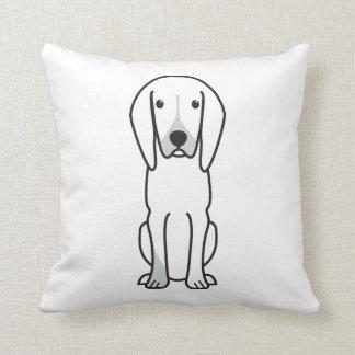 Black and Tan Coonhound Dog Cartoon Pillows