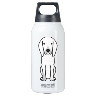 Black and Tan Coonhound Dog Cartoon SIGG Thermo 0.3L Insulated Bottle