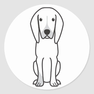 Black and Tan Coonhound Dog Cartoon Stickers