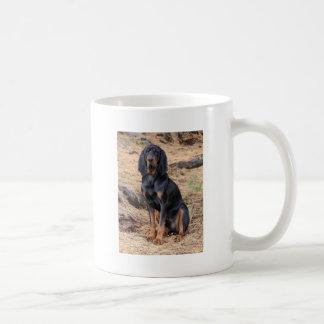Black and Tan Coonhound Dog Coffee Mug