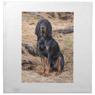 Black and Tan Coonhound Dog Napkin