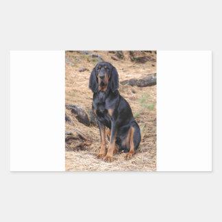 Black and Tan Coonhound Dog Sticker
