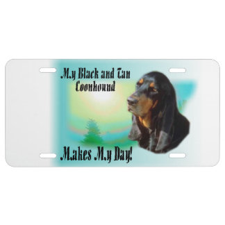 Black and Tan Coonhound Gifts License Plate
