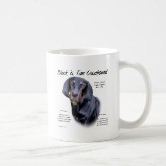 Black and Tan Coonhound History Design Coffee Mug