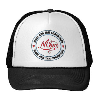 BLACK AND TAN COONHOUND mom Mesh Hat