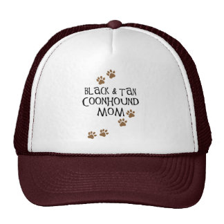 Black and Tan Coonhound Mom Hats