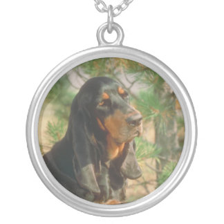 Black and Tan Coonhound Necklace