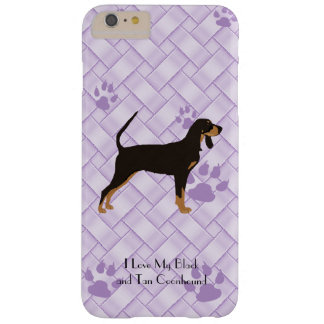 Black and Tan Coonhound on Lavender Weave 6/6s+ Barely There iPhone 6 Plus Case