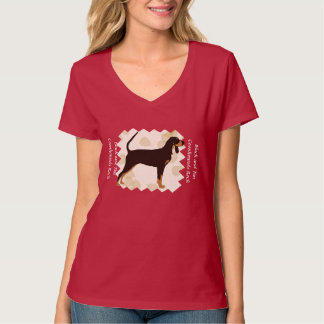 Black and Tan Coonhound on Tan Leaves Shirts