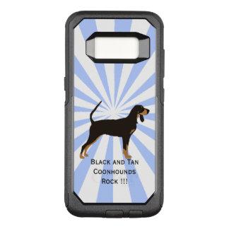 Black and Tan Coonhound on white starburst OtterBox Commuter Samsung Galaxy S8 Case