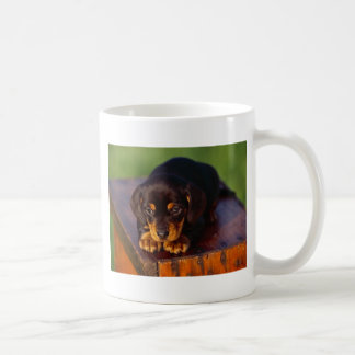 Black And Tan Coonhound Puppy Coffee Mug