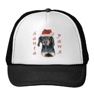 Black and Tan Coonhound Santa Paws Trucker Hats