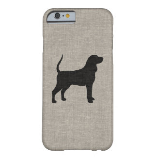 Black and Tan Coonhound Silhouette Barely There iPhone 6 Case