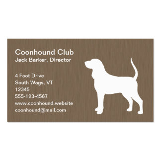 Black and Tan Coonhound Silhouette Business Cards