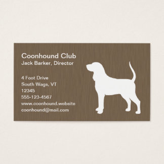 Black and Tan Coonhound Silhouette Business Card