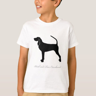 Black and Tan Coonhound silhouette Shirt