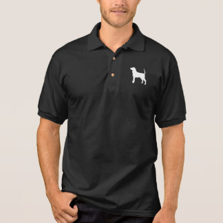 Black and Tan Coonhound Silhouette Polo Shirts