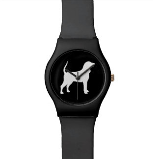 Black and Tan Coonhound Silhouette Watches