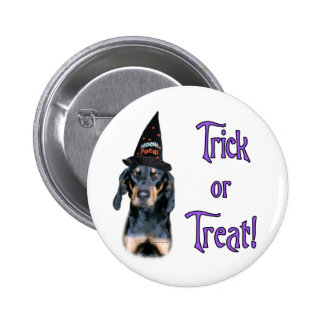 Black and Tan Coonhound Trick Pinback Button