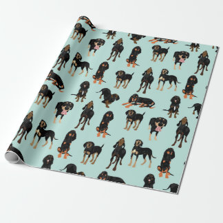 Black and Tan Coonhound Wrapping paper