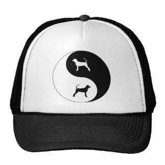 Black and Tan Coonhound Yin Yang Trucker Hats