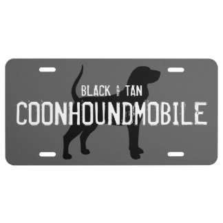 Black and Tan Coonhoundmobile Coonhound Silhouette License Plate