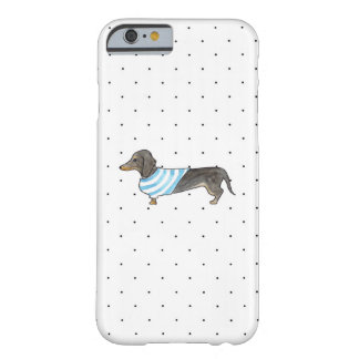 Black and Tan Dachshund - Watercolor & Polka Dots Barely There iPhone 6 Case