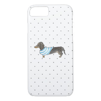 Black and Tan Dachshund - Watercolor & Polka Dots Case-Mate iPhone Case