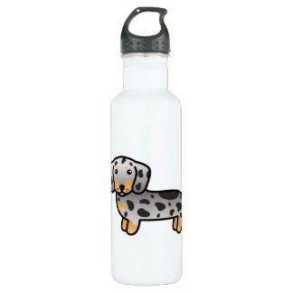 Black And Tan Dapple Smooth Coat Dachshund Dog 710 Ml Water Bottle