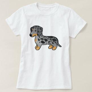 Black And Tan Dapple Smooth Coat Dachshund Dog T-Shirt