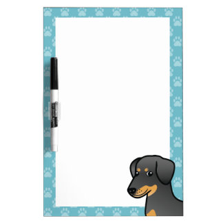 Black And Tan Doberman / German Pinscher Dog Dry-Erase Whiteboard