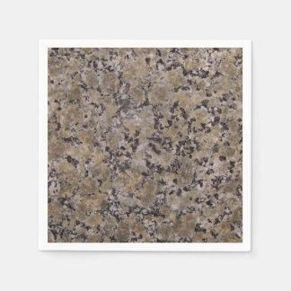 Black and Tan Granite Paper Napkin
